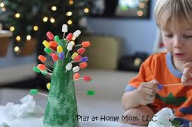 100 gumdrop christmas tree craft using a champagne or wine
