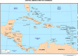 political map of central america and the caribbean political map of central america and the caribbean within of with