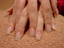 acrylic nails clear tips gel nails filing
