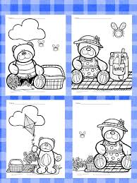 teddy bear picnic coloring pages free fun