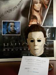 halloween resurrection charitybuzz closes today authentic screen used michael myers