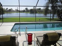 Lanai Patio Designs A Stunning Lake View With Pool Lanai Homeaway Naples
