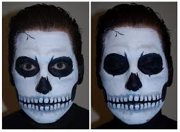 skull face paint makeup tutorial
