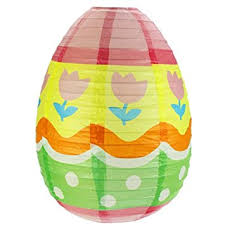Easter Decorations Large by Easter Decoration Large Paper Easter Egg Lantern Amazon Co Uk