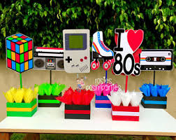 party centerpieces 80s party etsy