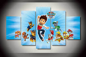 Paw Patrol Room Decor Aliexpress Buy Wall Decoration Paw Patrol Letters Painting