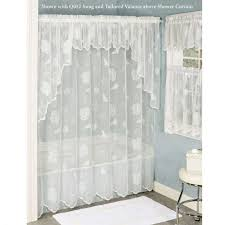 Pine Cone Lace Curtains Apartments Pine Cone Lace Tier Window Treatment White Shower