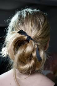 hair ribbon 5 more surprisingly chic ways to wear a simple ribbon in your hair