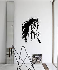 home interior horse pictures horse face reusable wall stencil for home interior decor not