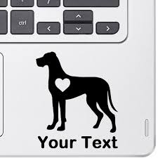 personalized great dane decal top pet gifts