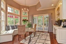 Traditional Dining Room With Builtin Bookshelf By Charlotte - Dining room area
