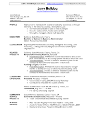 Accounting Student Resume Examples by Student Resume Format For Campus Interview Resume For Your Job
