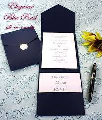 pocket invitation kits navy blue wedding invitations kits navy blue wedding invitation