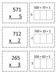 multiplication worksheets partial products method for