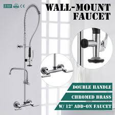 wall faucets kitchen kitchen chrome wall mount home faucets ebay