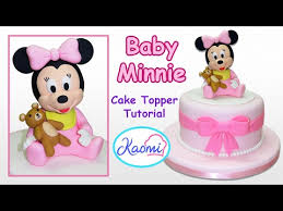 How To Make Minnie Mouse Cake Topper Cómo Hacer A Minnie Mouse