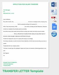33 transfer letter templates free sample example format