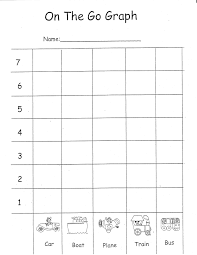 transportation ideas for math kindergarten nana christmas graphing