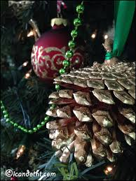 gilded pinecones i can do that