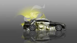 lexus rc yellow 4k lexus rc f side anime aerography car 2014 el tony