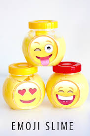 drink emoji emoji slime recipe for kids and tweens activity or party favors