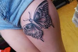 butterfly tattoos on thigh car tuning ink