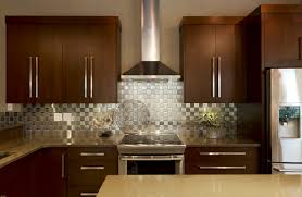 L Shape Kitchen Decoration Using Stainless Steel Metal Kitchen - Metal kitchen backsplash