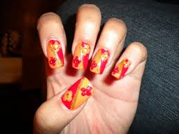 picture 5 of 10 easy thanksgiving nail designs ideas photo