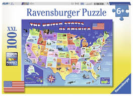 usa map jigsaw puzzle by hamilton grovely 2 jigsaw puzzle by ravensburger at puzzle palace australia