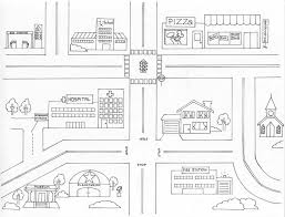 town map coloring page kids drawing and coloring pages marisa