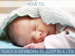 how to get your newborn to sleep in a crib throughout the night