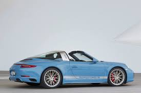 vintage porsche blue porsche 911 targa 4s exclusive design edition wears classic 356