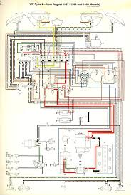 volkswagen bus drawing 1968 69 bus wiring diagram thegoldenbug com