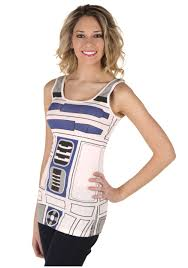 ladies r2 d2 costume tank top womens star wars costume