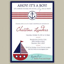 nautical baby shower invitations to inspire you in making