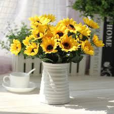 artificial sunflowers pretty 1bouquet artificial sunflower for home decor wedding