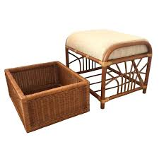 outdoor brown wicker storage ottoman tag wicker storage ottoman