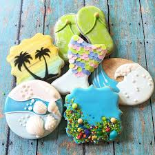 seashell shaped cookies 319 best summer cookies images on decorated