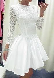 white lace splicing cutout back dress dresses casual dress