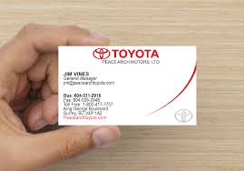 peace arch toyota business card sample 2 u2013 design u0026 printing services