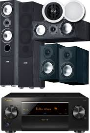 pioneer amplifier home theater canton gle 7 piece atmos speaker package w pioneer sc lx501
