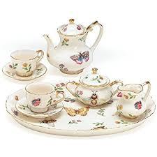 8 porcelain mini saddlebrooke tea set toys
