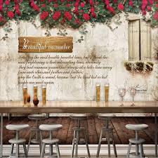 coffee shop background design 3d photo wallpaper restaurant retro wall flower mural bar coffee