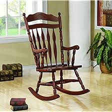 Chair Rocking By Itself Amazon Com Coaster Mission Style Rocking Wood And Leather Chair