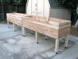 Raised Garden Beds Kits Beds On Wheels Nine Red Diy Simple Raised Bed On Wheels Garden