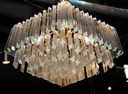 diamond chandelier murano glass diamond chandelier at 1stdibs
