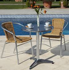 Patio Bistro Table Incredible Aluminium Bistro Table Metal Table And Chairs Winda 7