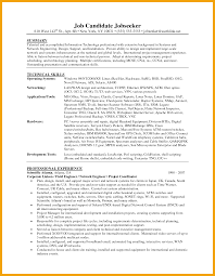 Linux System Engineer Resume Networking Resume Skills