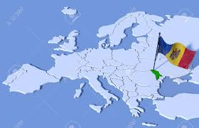 Moldova Flag 3d Map Of Europe Flag Moldova Stock Photo Picture And Royalty