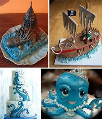 Ocean Cake Decorations Cake Art Over 25 Awesomely Offbeat Decorated Cakes Urbanist